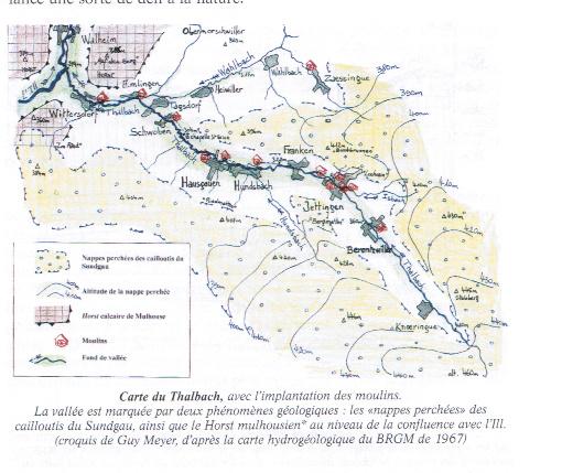 Carte des moulins du Thalbach