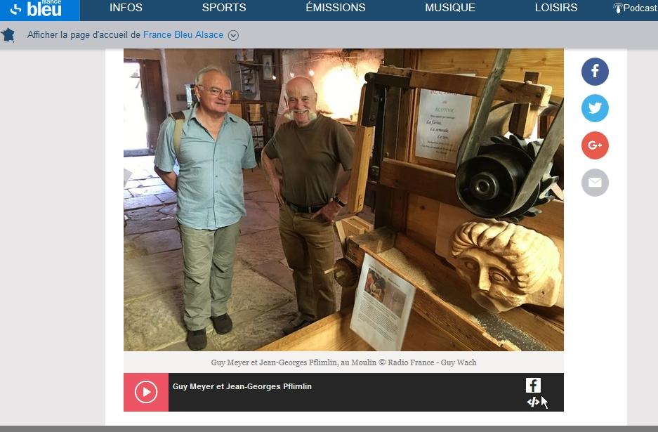 """Reportage de France Bleu Alsace """"Le Tour d'Alsace"""" en juillet 2017. Photo de Guy Wach"""