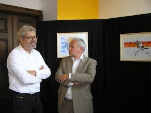 André Vedel (à gauche) expo en Belgique