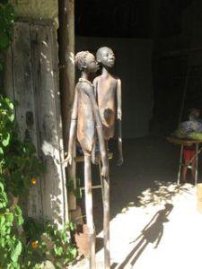 Sculpture en terre de Michèle Ludwiczak