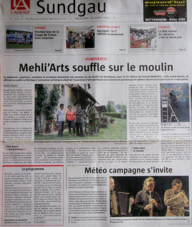 L'Alsace 19-08-2015